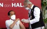 今天,總統帶頭接種中國疫苗。